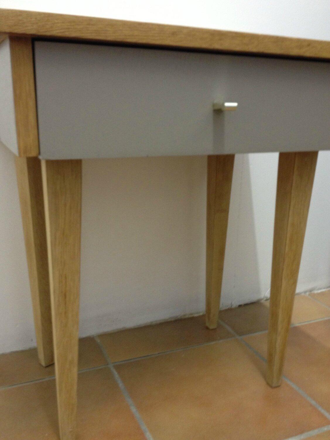 chevet pieds compas ann es 50 la petite factory de julie. Black Bedroom Furniture Sets. Home Design Ideas