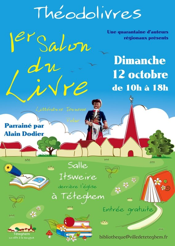 Salon du livre Teteghem affiche definitive