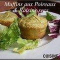 Muffins aux poireaux & raisins secs