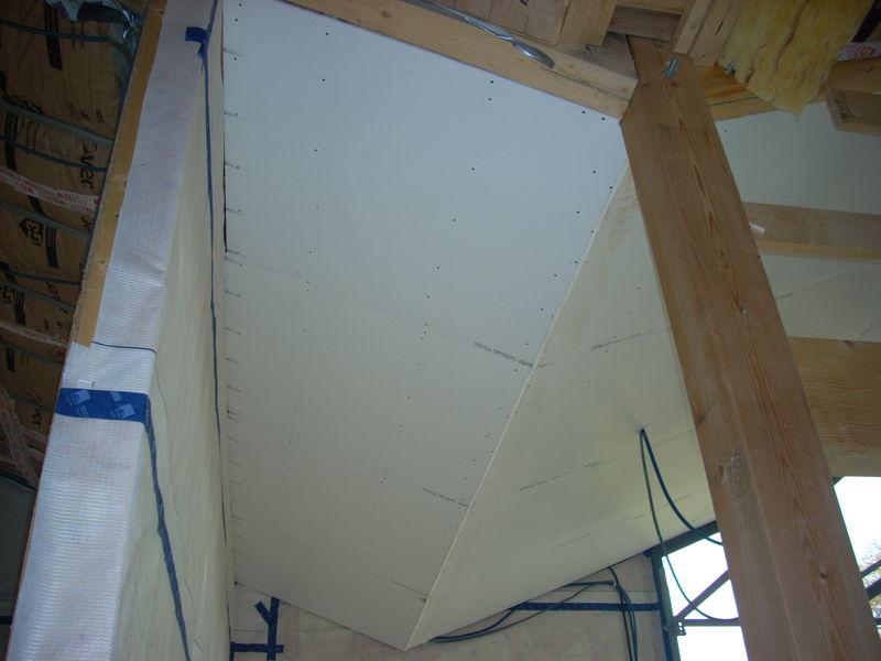 Plafond plaque de platre vue de l 39 entr e photo de am nagement int rieur second oeuvre - Plaque de platre plafond ...
