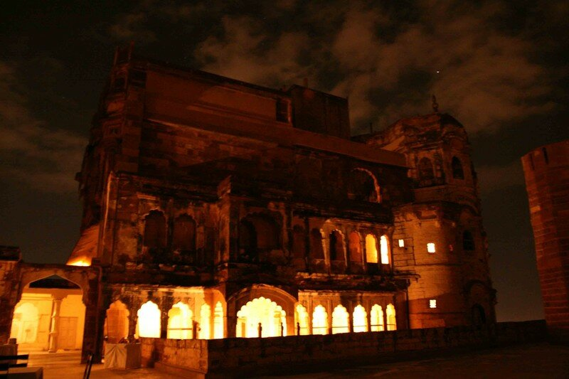 The Fort at Night, a Building