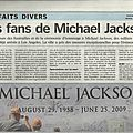 Les fans de michael jackson se ruent sur los angeles - le parisien, 5 juillet 2009