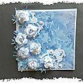 Carte fleurie : la vie en bleu
