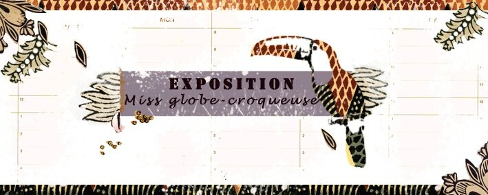 lino- etiquettes-toucanwax- exposition miss globecroqueuse