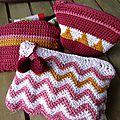 Trois petites trousses pour un grand sac