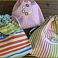 Rentrée scolaire : trio de sacs personnalisés