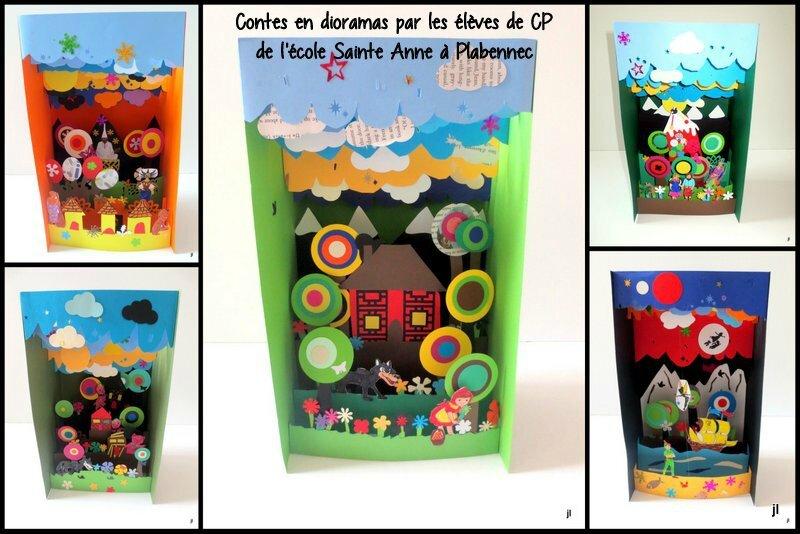 Projet Contes en dioramas Plabennec CP 2015
