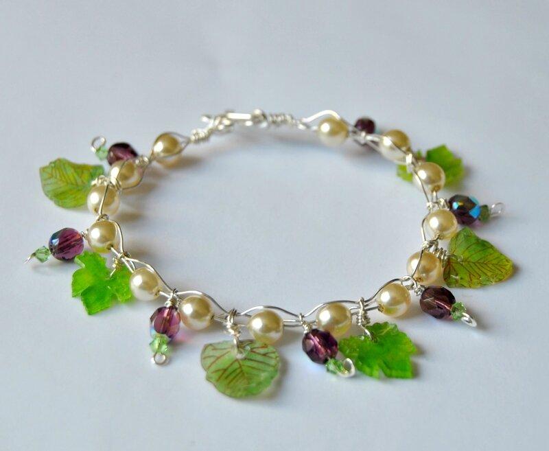 bracelet printanier violet2
