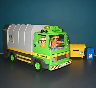 3121 camion poubelle photo de playmobil sans accessoires taklou. Black Bedroom Furniture Sets. Home Design Ideas