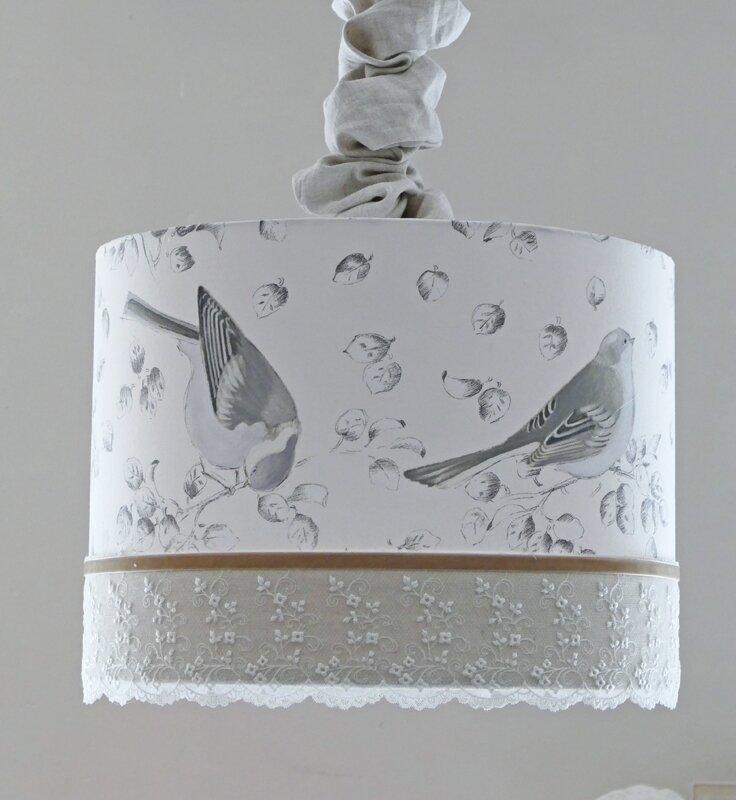 abat-jour suspension oiseaux 2