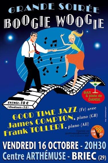 Affiche : concert Boogie Woogie