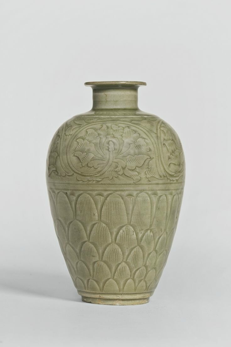 A 'Longquan' celadon meiping, Northern Song dynasty