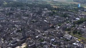 Tour de France 2013 Avranches vue aérienne