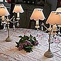 paire lampes 3 bras pampilles