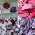 Moules frites violettes