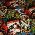 Tissu Universal Monsters pour robe pin Up, jupe circle, chemise, bustier...