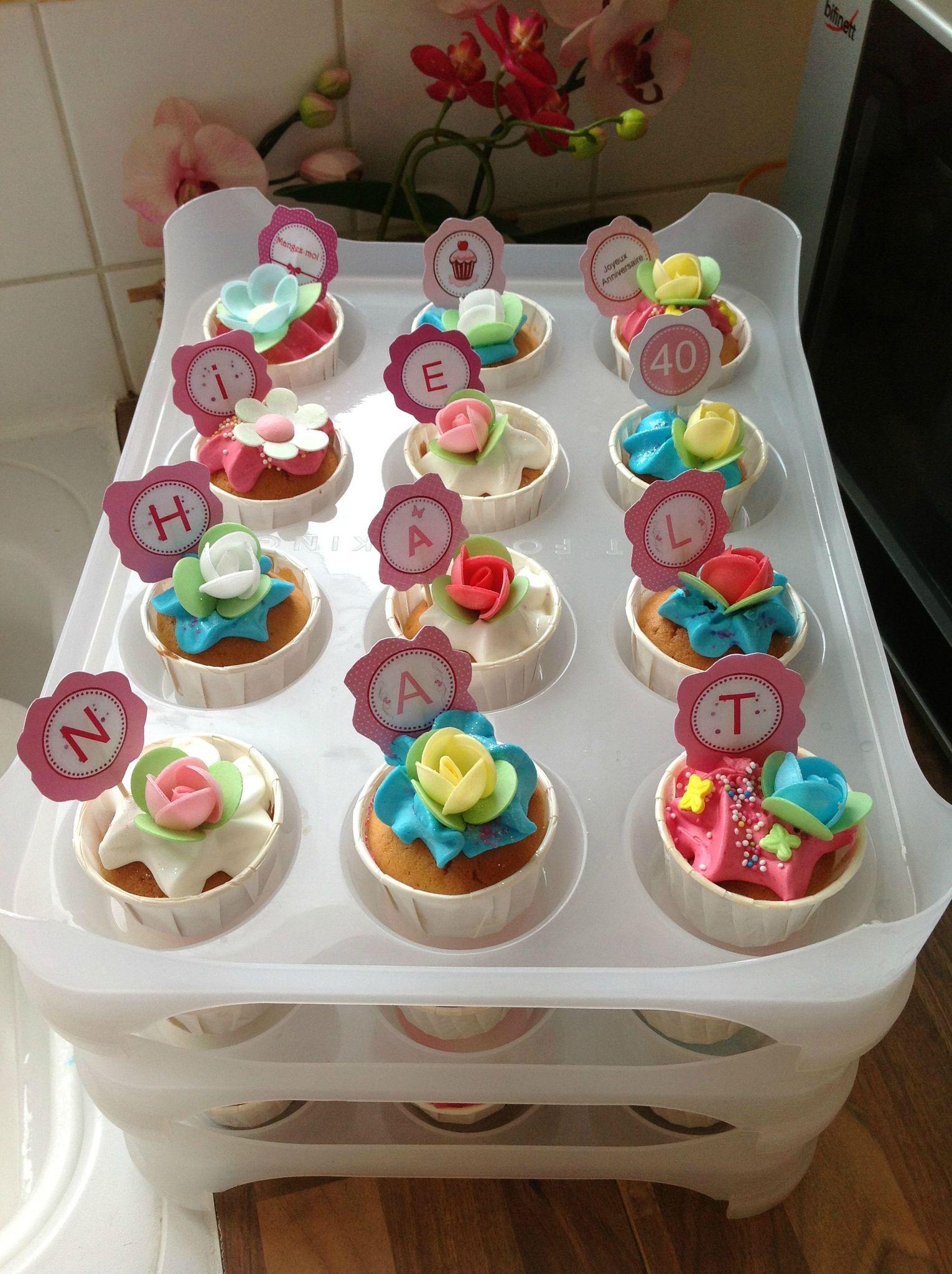 Cupcakes d 39 anniversaire les cupcakes d 39 adam co - Decoration cupcake anniversaire ...