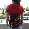 tee shirt dentelle rouge TTF 1