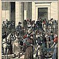Le dimanche des Rameaux 1891, devant Notre-Dame de Lorette