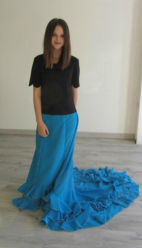 Bata de cola turquoise 1