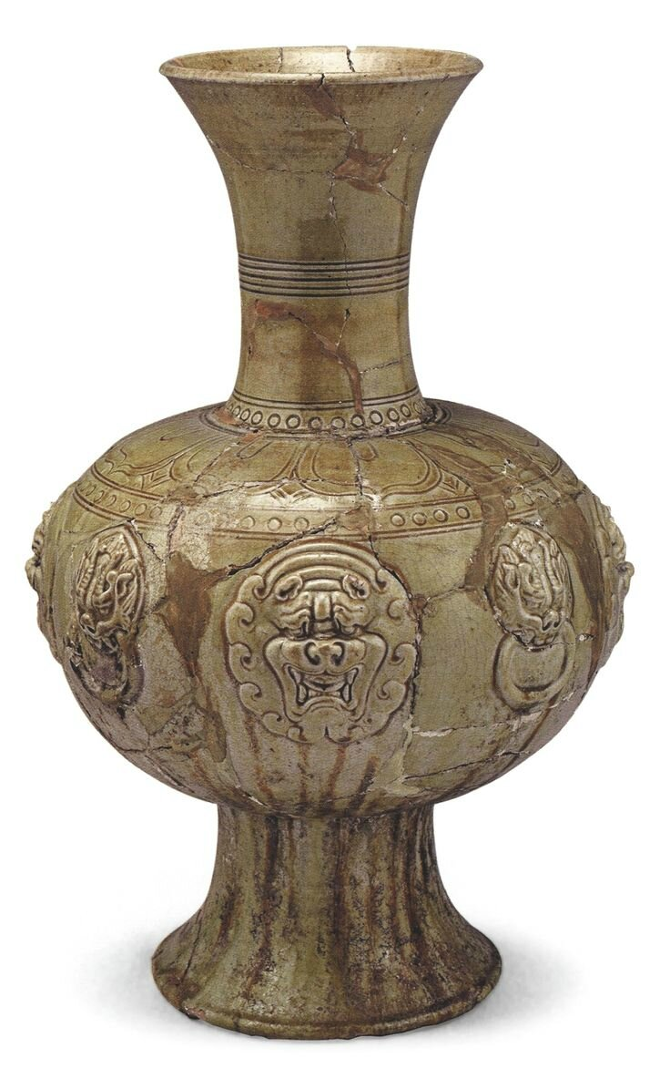 A large amber glazed vase sui dynasty 581618 alainruong a large amber glazed vase from the tomb of xu xianxiu ad 571 biocorpaavc Choice Image