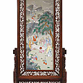 A rare and large famille rose porcelain plaque, daoguang period (1821-1850)