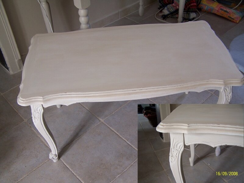 Peindre une table basse atelier retouche paris - Relooker une table de salon ...