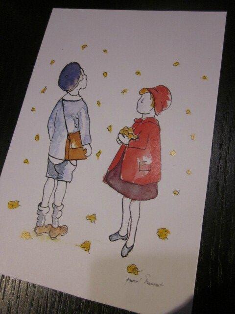 "Carte postale ""Tombent les feuilles III"""