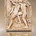Roman relief sculpture, Aphrodisias, Turkey. Achilles supports the dying Amazon queen Penthesilea