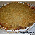 CRUMBLE AU SON D'AVOINE POMMES /KAKIS