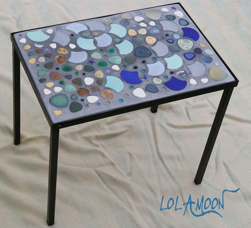 table ath nes fer forg photo de tables mosaiques. Black Bedroom Furniture Sets. Home Design Ideas