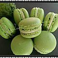 Macarons (meringue à l'italienne), ganache au combava