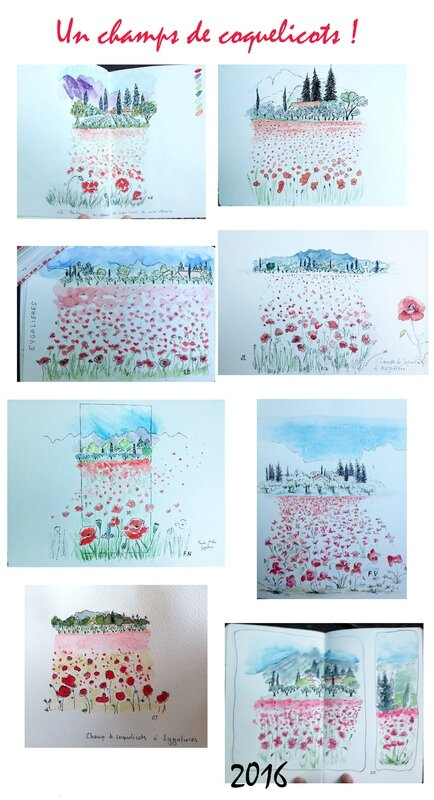 page coquelicots