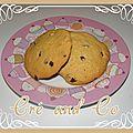 Cookies beurre de cacahuète et pépites de chocolat