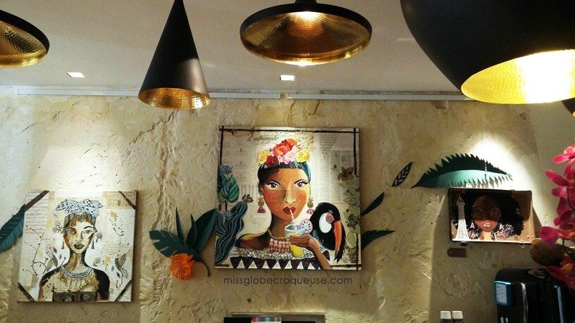 """Exposition évolutive """"Voyage & metissages"""" à l'hôtel Crayon *** Paris"""