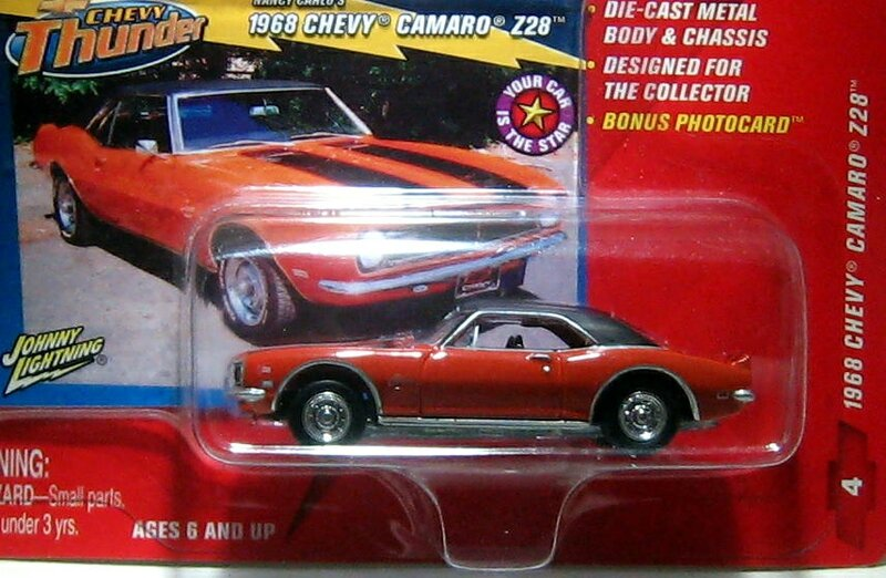 Chevrolet camaro Z28 de 1968 (Johnny Lightning)
