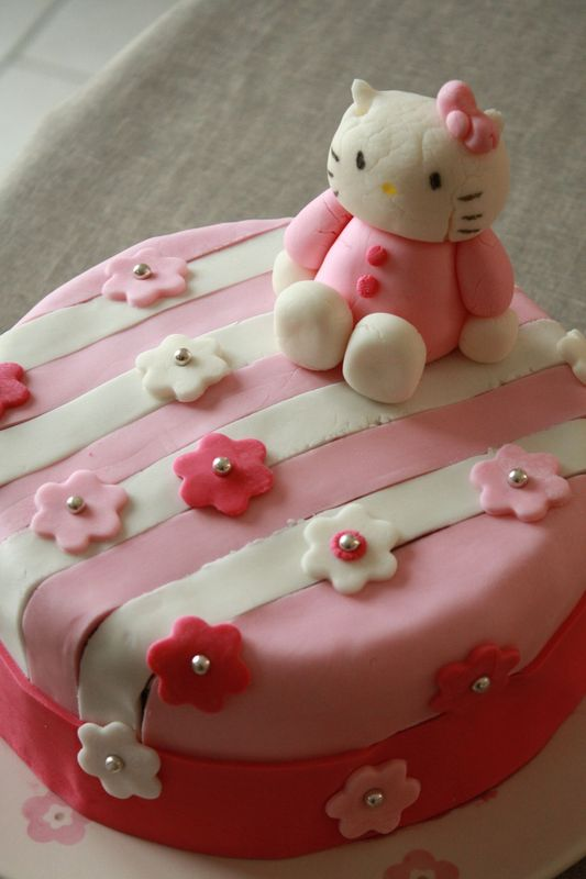 G teau d 39 anniversaire surprise hello kitty avec un - Gateau surprise anniversaire ...
