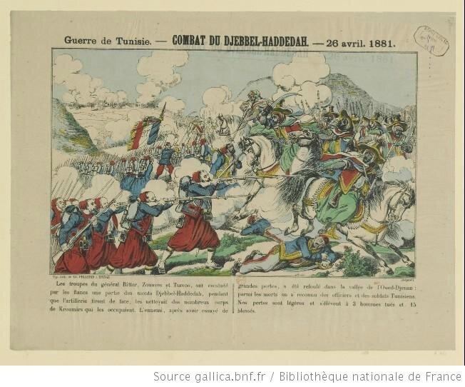 Guerre de Tunisie Combat du Djebbel Haddedar 26- 04 1881
