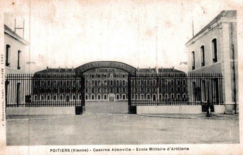 1917-11-11- Poitiers-caserne-abboville-ecole-militaire-dartillerie