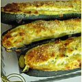 Courgettes farcies au brocciu ou ...