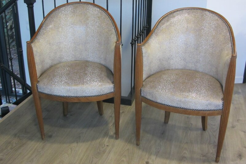 Art d co c t si ges tapissier brest restauration ameublement - Le bon coin fauteuil club ...
