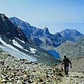 Rando pédestre de la croix de chamrousse à celle de belledonne,2e plus haut sommet du massif ( chaine de belledonne/isere))