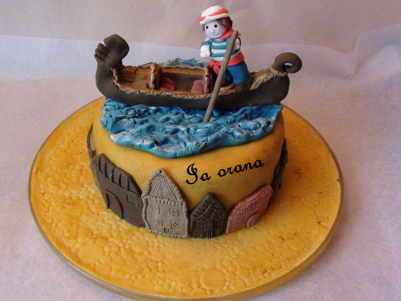 Gâteau gondole/Gondola cake