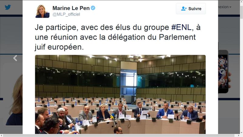 MarineLePenParlementJuifEuropéen