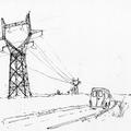 Camionette et pylône