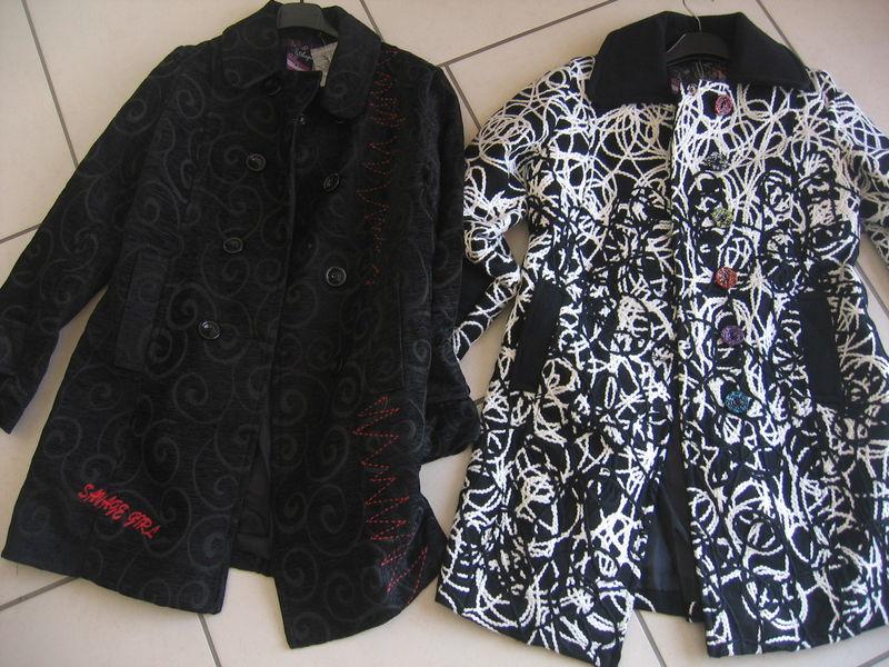 Manteau desigual noir et gris