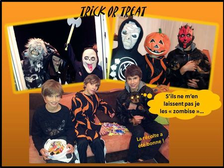 blog halloween trick or treat chien bonbons