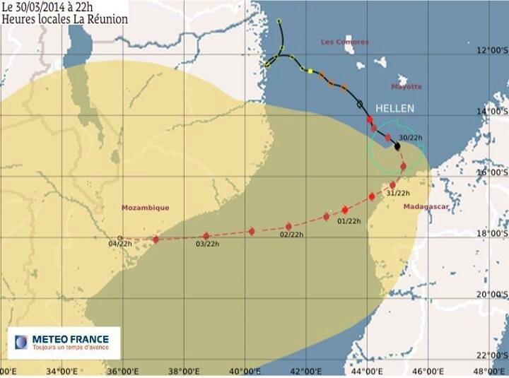 tempete hellen Cyclone-Hellen-trajectoire-dimanche-30-mars-22-heures