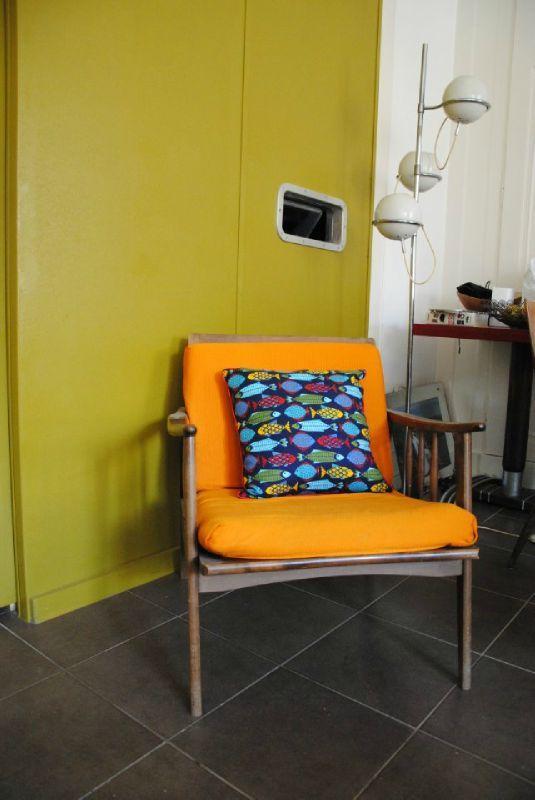 coussin design la p che du jour chez mademoiselle fabrique le blog de madame coussins. Black Bedroom Furniture Sets. Home Design Ideas