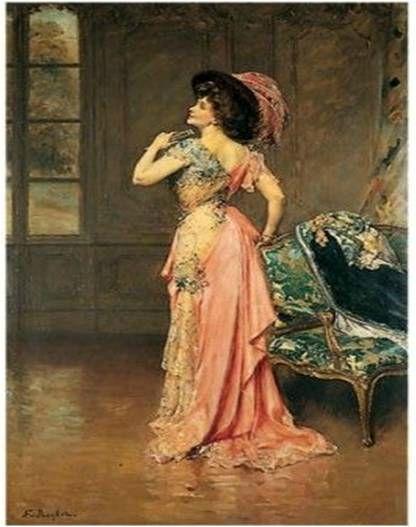 Dame au costume vénitien de Juana ROMANI Musée de Courbevoie